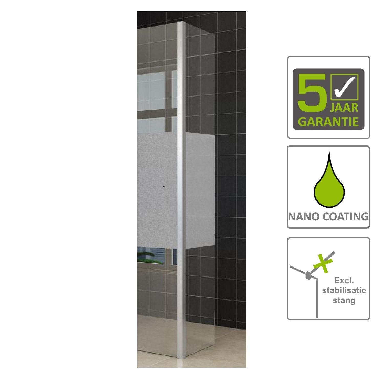 Sanitair-producten 67563 BWS Zijwand Hoekprofiel Irene met Middenband 35×200 10 mm NANO Coating