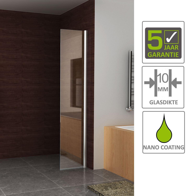 Sanitair-producten 67421 BWS Apollo Zijwand met Muurprofiel 30×200 cm 10mm NANO glas