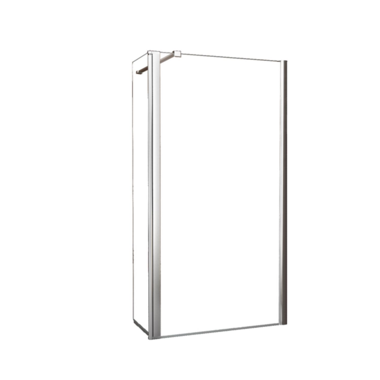BWS Apollo Zijwand met Schanierend Glasprofiel 30x200 cm 10mm NANO Glas kopen - Tegel Depot sanitair met korting
