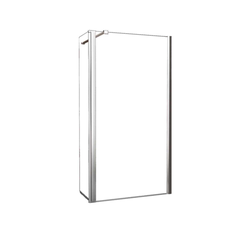 BWS Apollo Zijwand met Schanierend Glasprofiel 40x200 cm 10mm NANO Glas kopen - Tegel Depot sanitair met korting