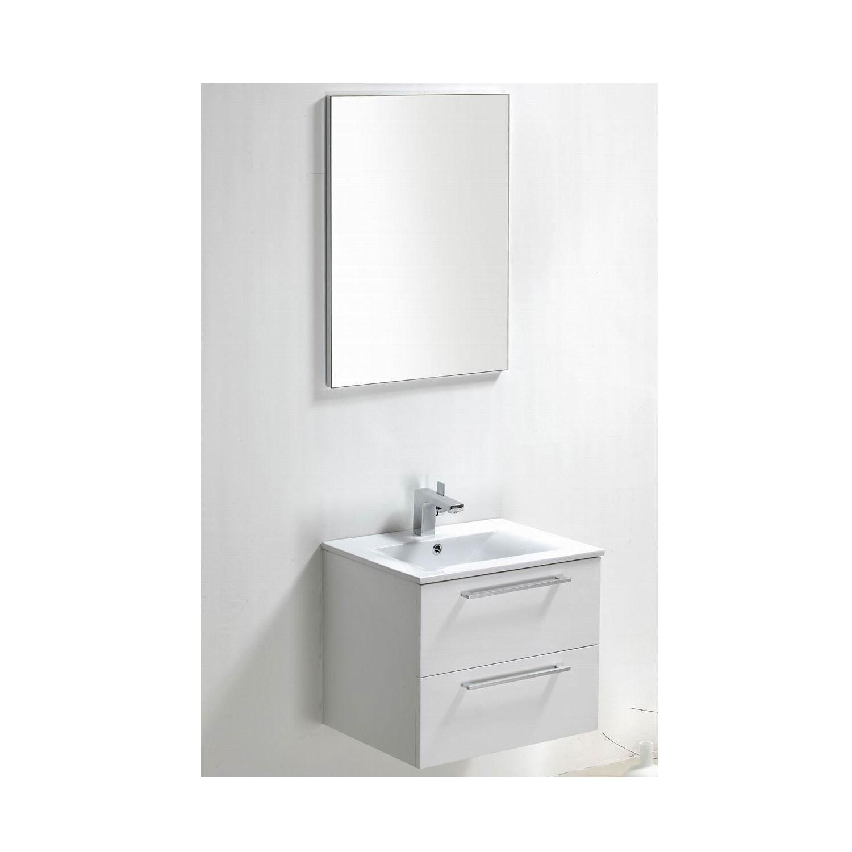 Badkamermeubels Wastafelonderkast kopen? Badkamermeubelset Sanilux Roma 60x46x50 cm (in twee kleuren leverbaar) met korting