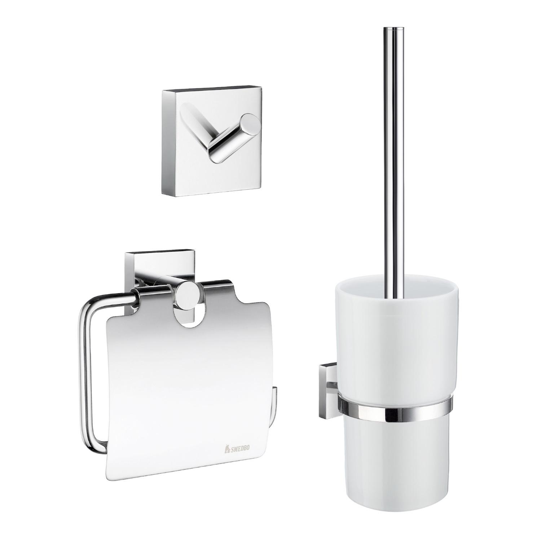 Complete Toiletborstelset Smedbo Smart Pack House Messing Chroom