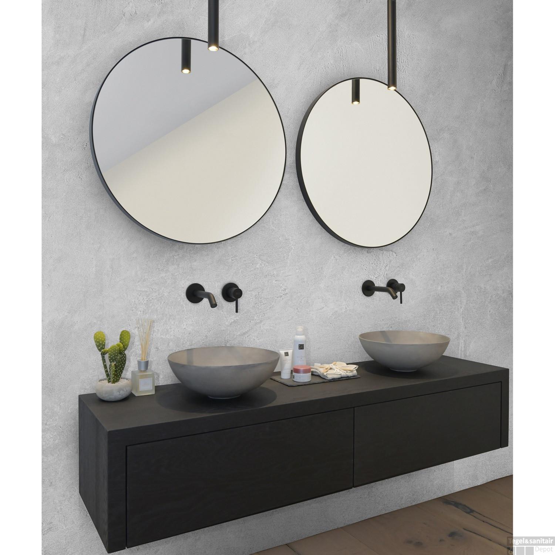 Spiegel Looox Mirror Black Line Round O 100cm