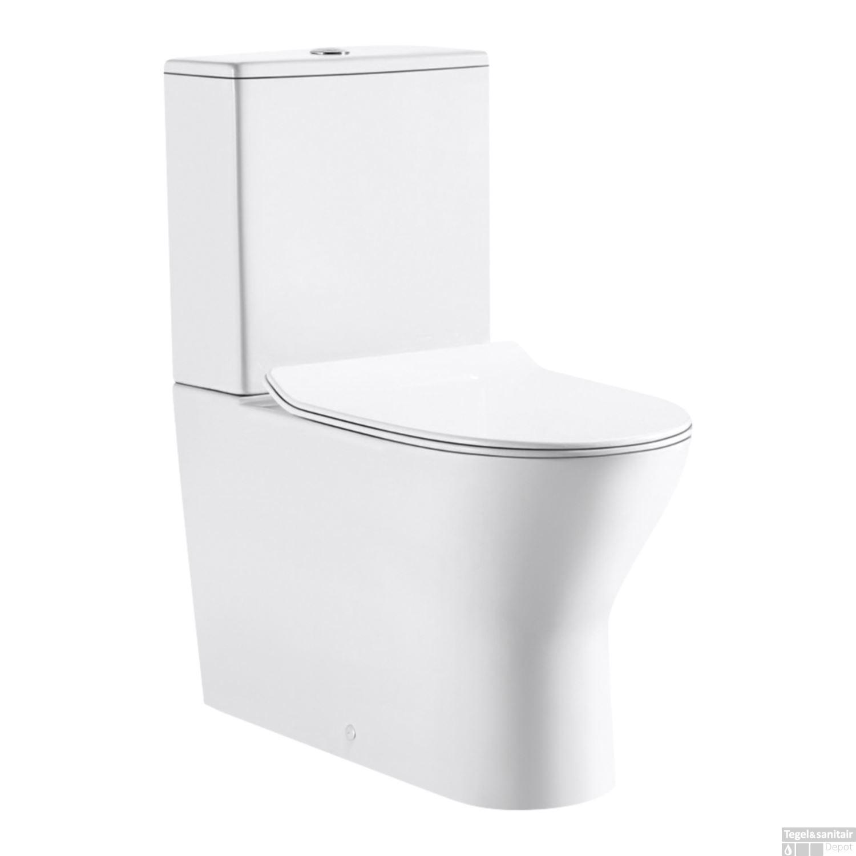 Toilet Ao Pk.Duoblok Vm Go Tina Rimless Inclusief Reservoir En Zitting Pk En Ao
