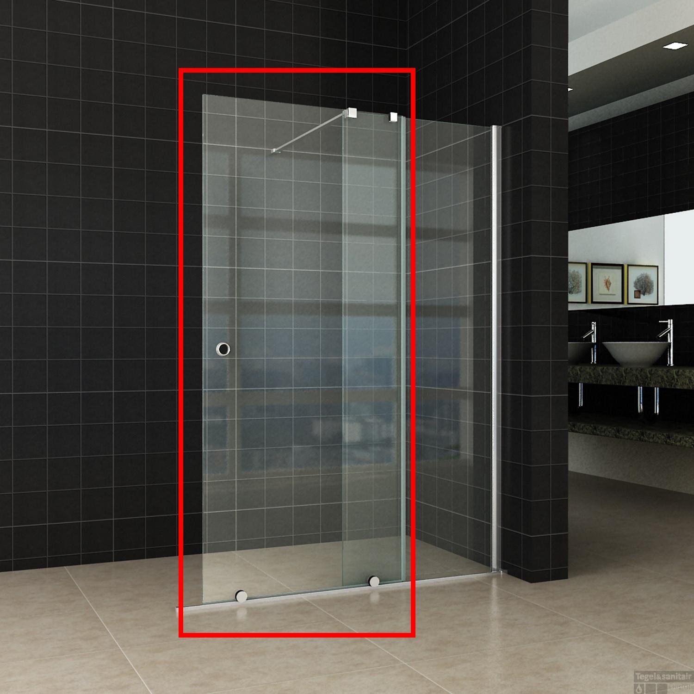 Glas Inloopdouche Prijs.Schuifbare Verleng Inloopdouche Wiesbaden 100x200 Cm Op Rail 10mm Nano Glas