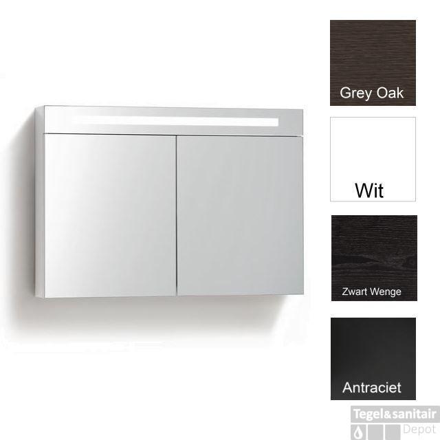 spiegelkast met verlichting wcd 100 cm 4 verschillende kleuren