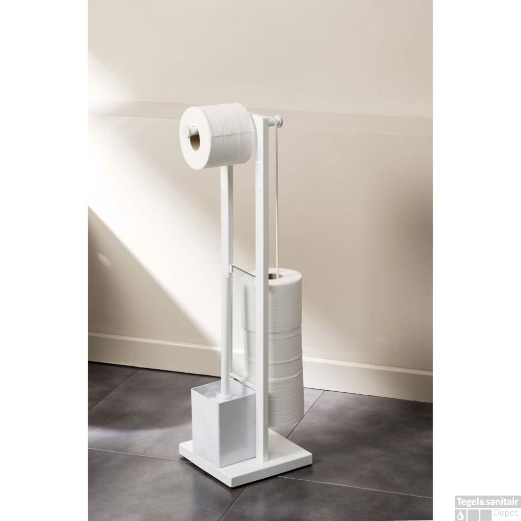 Wc Borstel En Toiletrolhouder.Toiletrolhouder Set Allibert K Re Wit