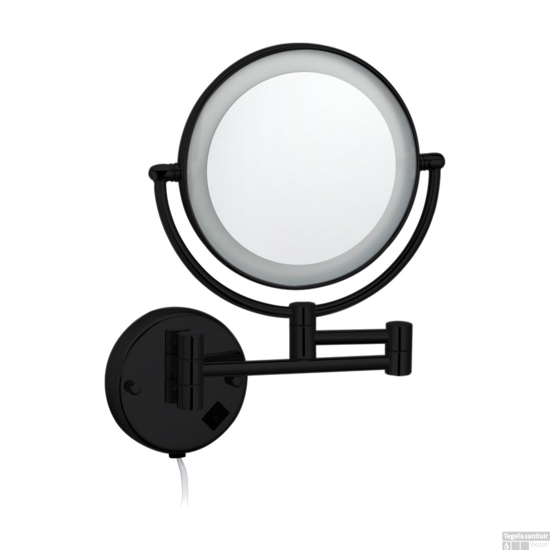 Cosmeticaspiegel Met Verlichting.Cosmeticaspiegel Best Design Steiner O20cm Led Verlichting 3x Vergroot Mat Zwart