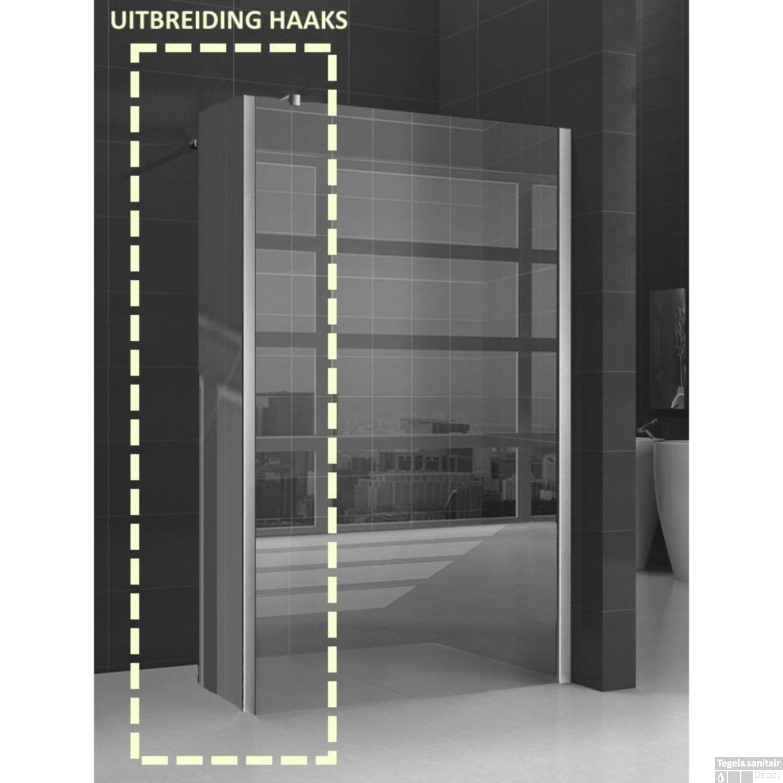 zijwand inloopdouche wiesbaden 30x200cm 10mm nano coating