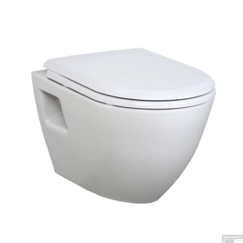 wandcloset creavit pact met softclose toiletzitting wit 49 8 cm