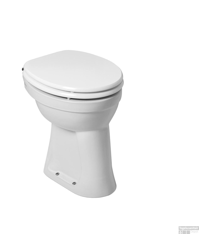 Staande Wc Pot Compleet.Toiletpot Wiesbaden Staand Verhoogd 6 Ao Wit