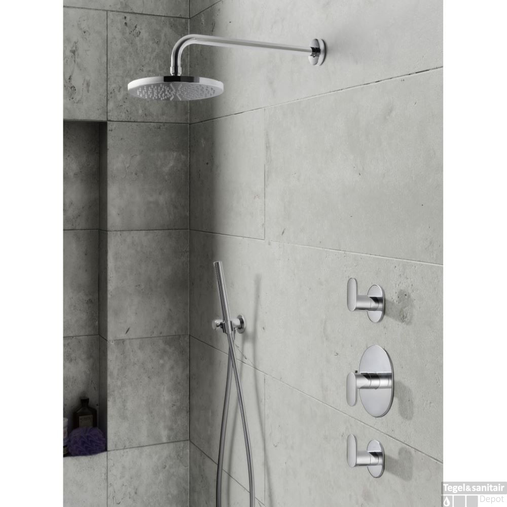 complete thermostatische douche inbouwset hotbath friendo. Black Bedroom Furniture Sets. Home Design Ideas