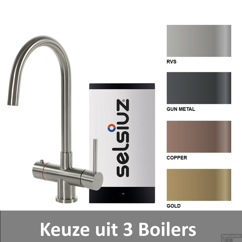 Kokend Water Kraan.Kokendwaterkraan Selsiuz Steel Rond Inclusief Boiler Keuze Uit 3