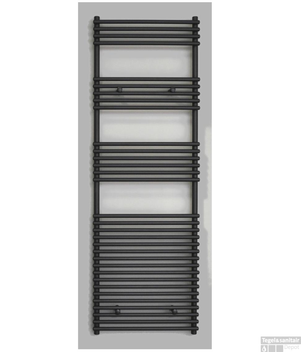 Badkamer Radiator 1400 Watt.Radiator Sanicare Tube On Tube 1335 Watt Inclusief Ophanging 60x180 Cm Mat Zwart