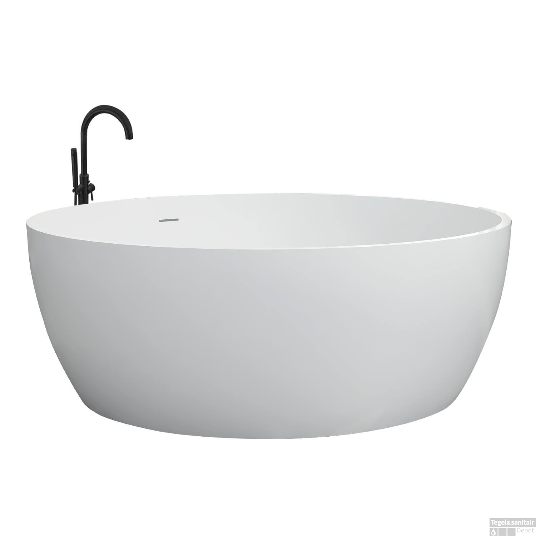 Vrijstaand Bad Mat Wit.Rond Vrijstaand Bad Best Design Cirkel 153 Cm Solid Surface Mat Wit