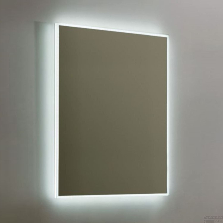 Spiegel Sanilux Mirror Infinity 58x80x4.5cm Aluminium met LED ...