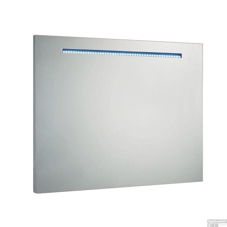 spiegel sanilux mirror aluminium met led verlichting. Black Bedroom Furniture Sets. Home Design Ideas