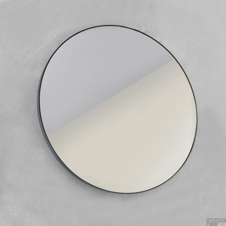 spiegel looox mirror black line round 70cm spblr700
