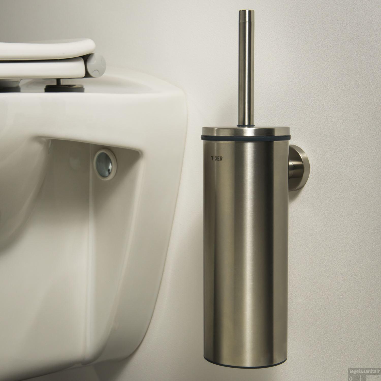 Toiletborstelhouder Tiger Boston Muur RVS Geborsteld 35.6 cm