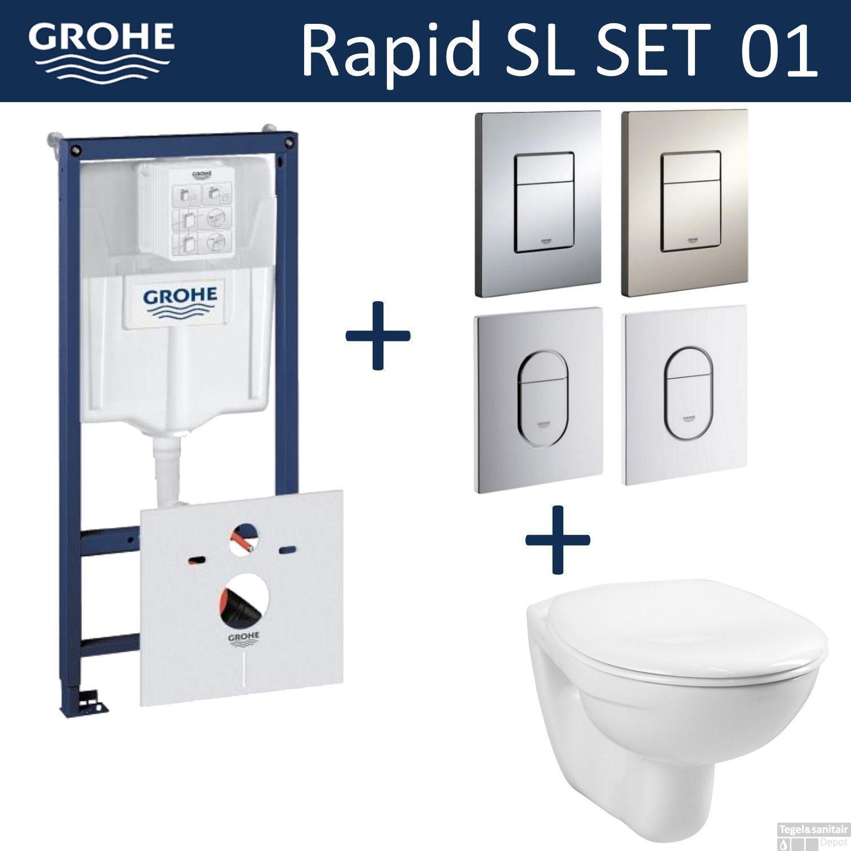 Grohe Toilet Accessoires Set.Grohe Rapid Sl Toiletset Set01 Basic Smart Met Grohe Arena Of Skate Drukplaat
