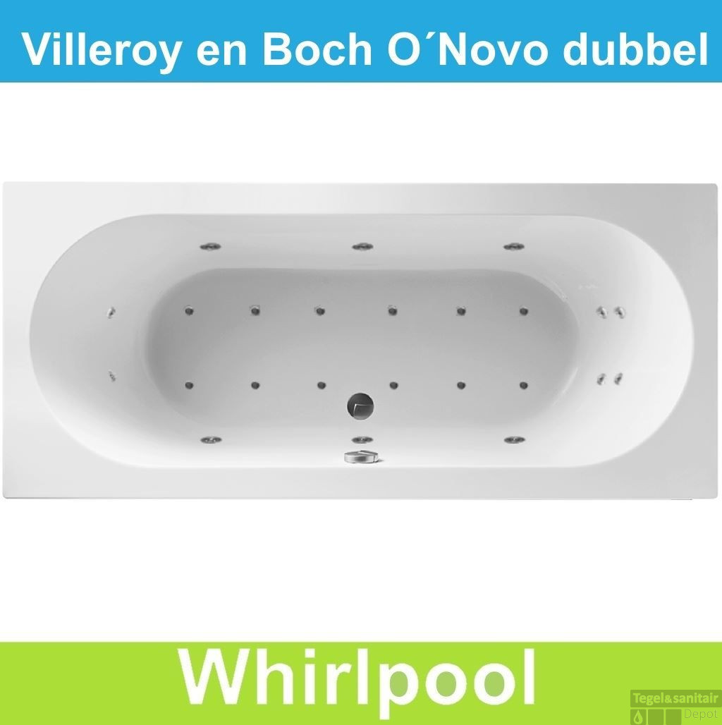 ligbad villeroy boch 180x80 cm balboa whirlpool systeem dubbel. Black Bedroom Furniture Sets. Home Design Ideas