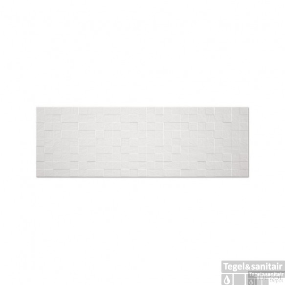 Wandtegels Kerabo wit mat 33,3x100 box decor (Doosinhoud 1,33 m²)