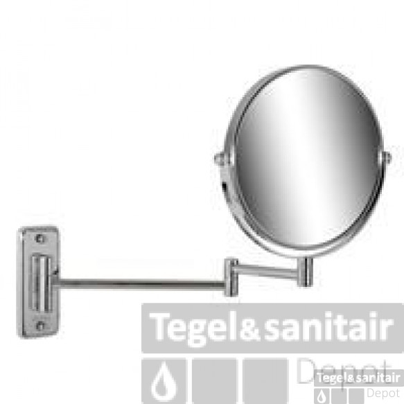 Geesa Cosmetic Collection Scheerspiegel 2-armig Rond 20 Cm. 5x Vergrotend Chroom