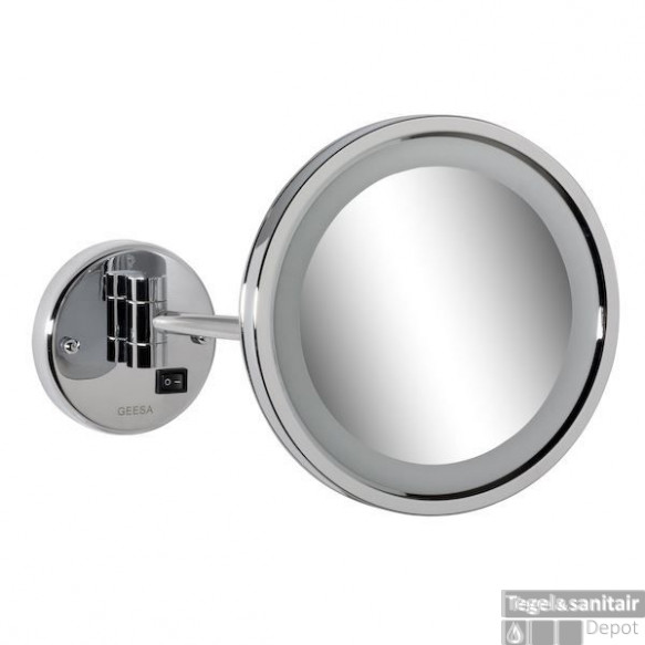 Geesa Cosmetic Collection Scheerspiegel 1-arm Rond 21,5 Cm. Led Verlichting Chroom