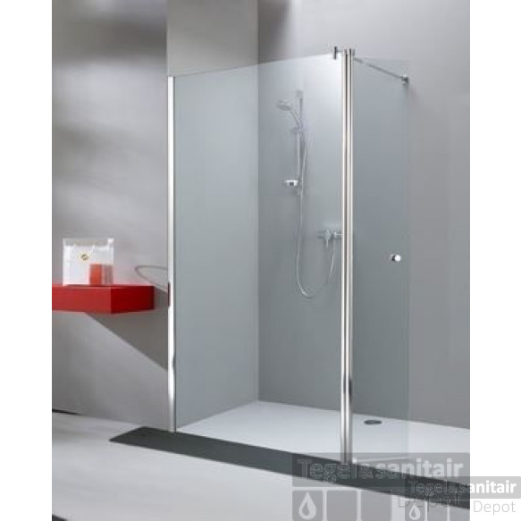 Huppe 501 Design Walk-in 140x200 Cm. Met Vleugel Chroom Look-antiplaque Gl