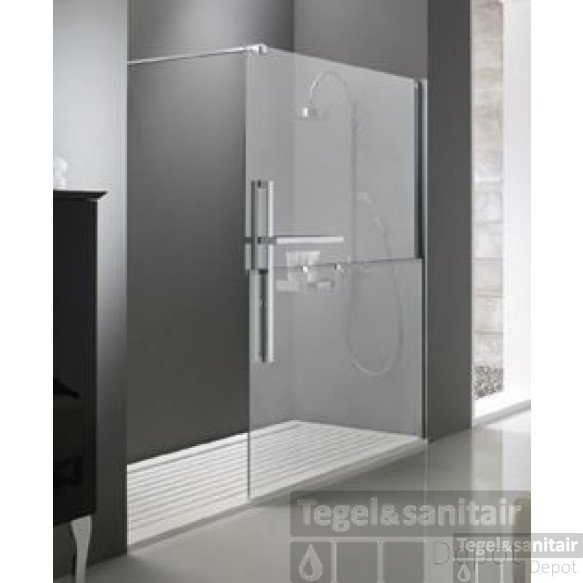 Huppe Duplo Walk-in 180x200 Cm. Rechts Chroom-antiplaque Glas