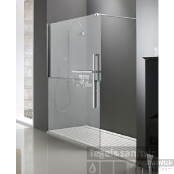 Huppe Duplo Walk-in 140x200 Cm. Links Chroom-helder Glas