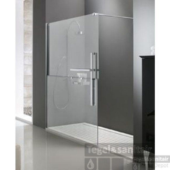 Huppe Duplo Walk-in 130x200 Cm. Links Chroom-helder Glas