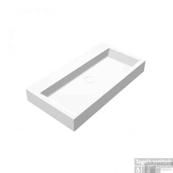 Wastafel Best Design Opera-80 Just Solid Surface 80x42x10cm
