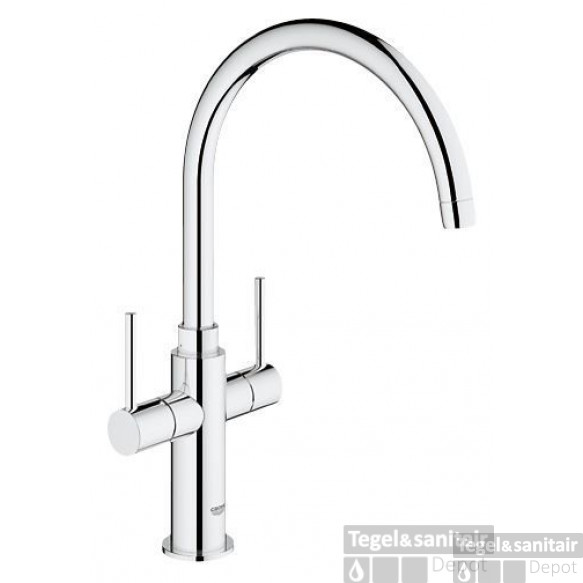 Grohe Ambi Keukenkraan Hoog Model 382 Mm. Chroom