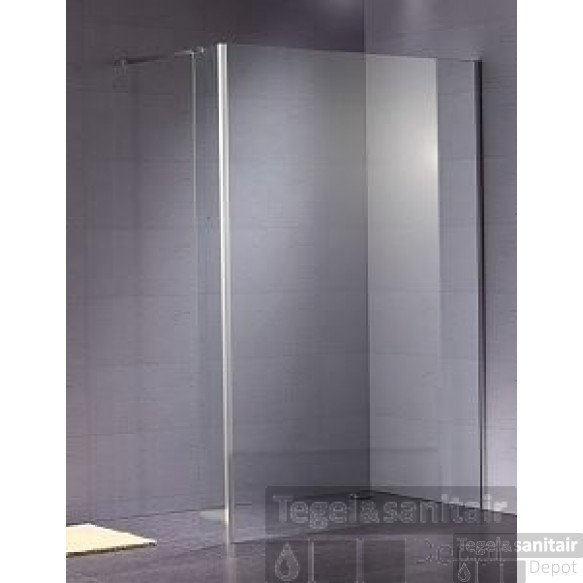 B&w-luxury Quattro Walk-in Douche 102.6x200 Cm. Chroom-helder Clean