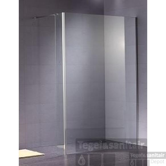 B&w-luxury Quattro Walk-in Douche 132.6x200 Cm. Chroom-helder Clean