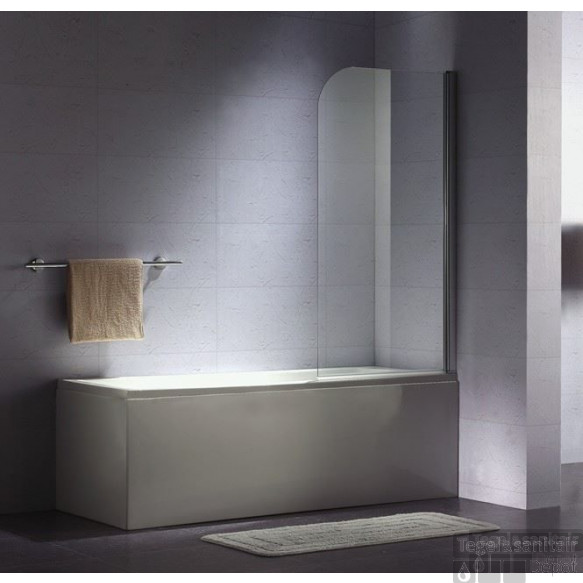 B&w-luxury Bagno Base Badklapwand 75x140 Cm. Chroom-helder Clean
