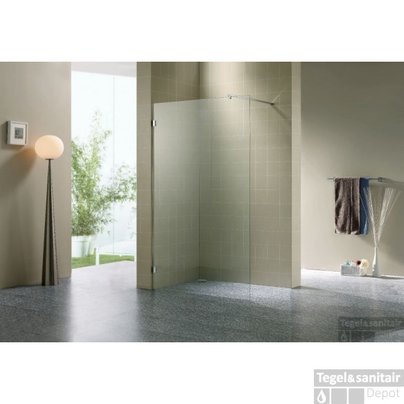 B&w-luxury Cedola Walk-in Douche 100x200 Cm. Compleet Chroom-helder Clean