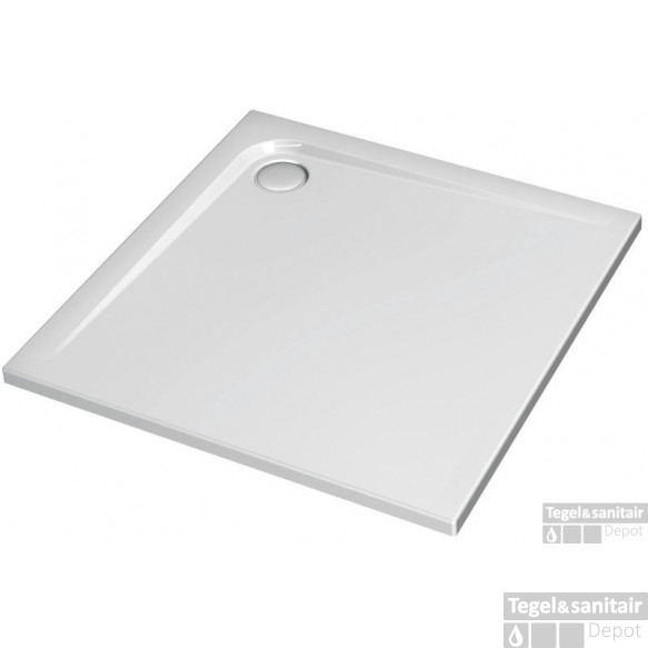 Ideal Standard Ultra Flat Douchebak 100 X 100 X 4 Cm. Wit