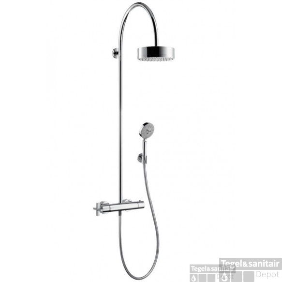Axor Citterio Showerpipe Met Thermostaat Met Rechte Greep Chroom