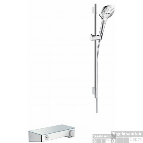 Hansgrohe Select Shower Tablet S300 Met Raindance S E120 Douchecombinatie 65 Cm. Wit-chroom