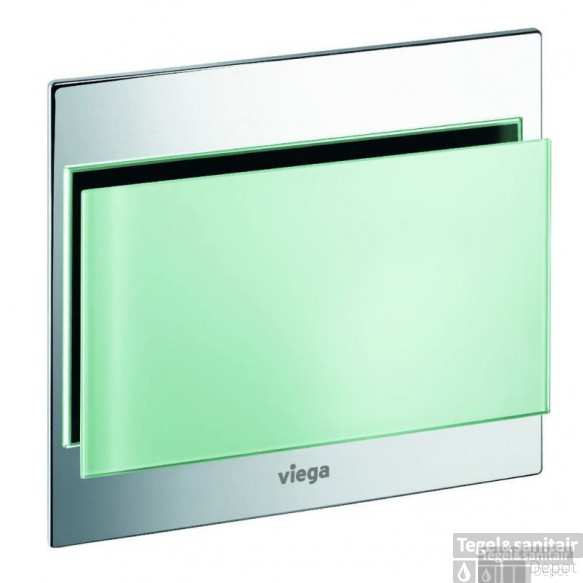 Viega Visign For More 102 Urinoir Bedieningsplaat Helder Glas-mintgroen