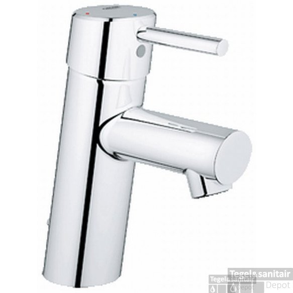 Grohe Concetto S-size Wastafelkraan 28 Mm. Met Ketting Chroom