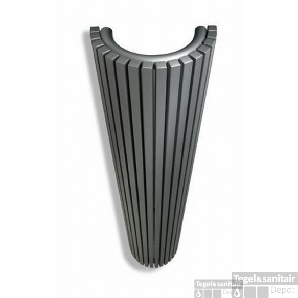 Vasco Carre Cr-o Radiator 350x1800 Mm. N16 As=0018 1528w Antraciet M301