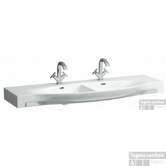 Laufen Palace Dubbele Meubelwastafel 150x51 2xkrgt.m/overl+hdh. Wit