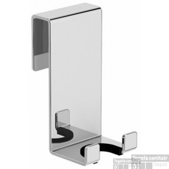 B&w-luxury Bold Douchewisserhaak Voor Douchewand 8-10mm. Chroom Chroom