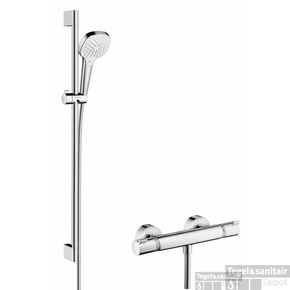 Hansgrohe Croma Select E Vario Glijstangset 90cm.met Ecostat Comfort Therm. Chroom