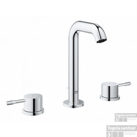 Grohe Essence New M-size 3-gats Wastafelkraan Met Waste Chroom
