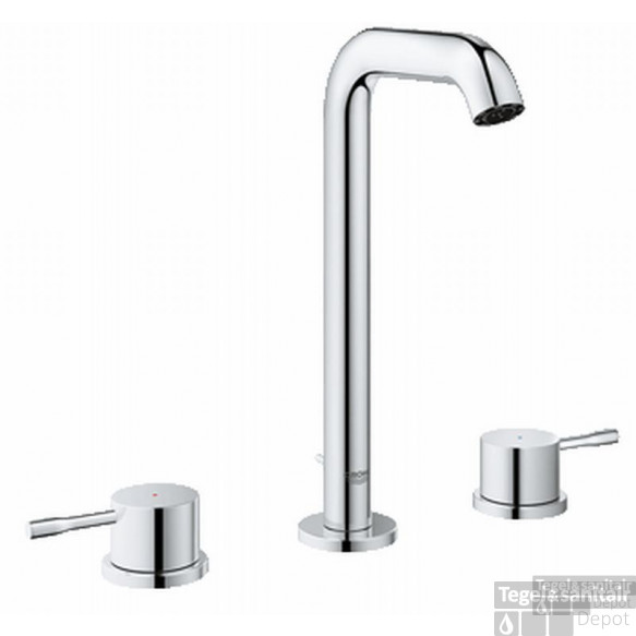 Grohe Essence New L-size 3-gats Wastafelkraan Met Waste Chroom