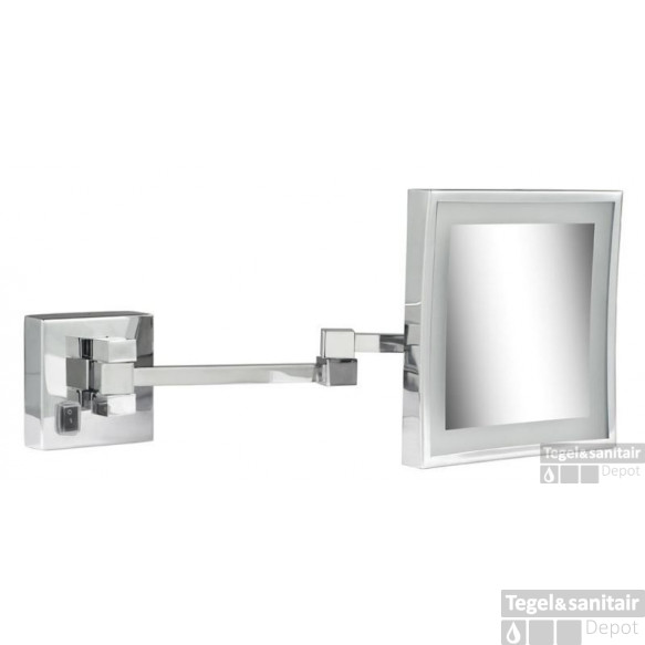 Geesa Cosmetic Collection Scheerspiegel 2x Arm Led 3x Vergrotend 205x205 Chroom